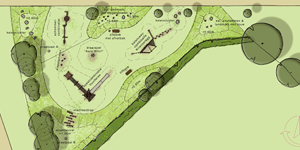 Plan van de avontuurlijke speelzone