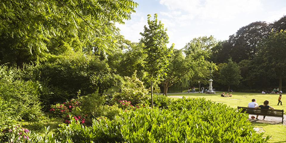 Het stadspark biedt voor elk wat wils