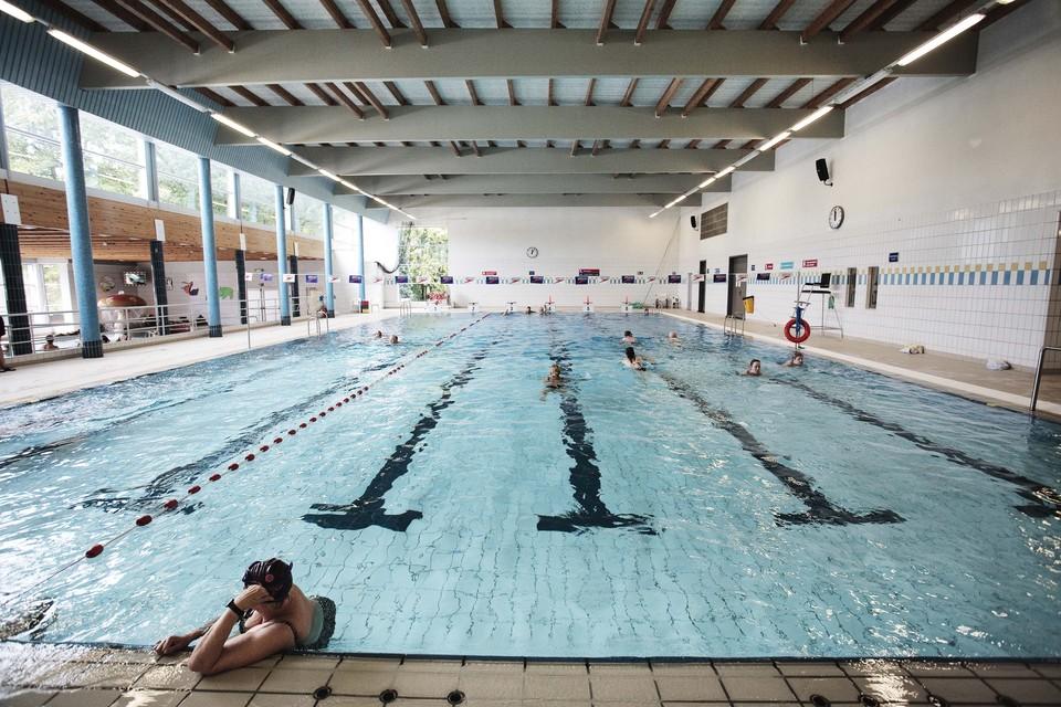 Overzichtsbeeld van zwembad Park van Merksem